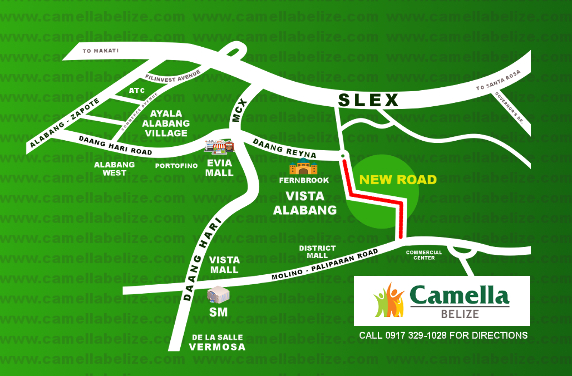 Camella Belize Location and Amenities
