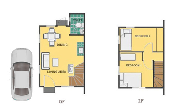Mika Floor Plan House and Lot in Dasmarinas