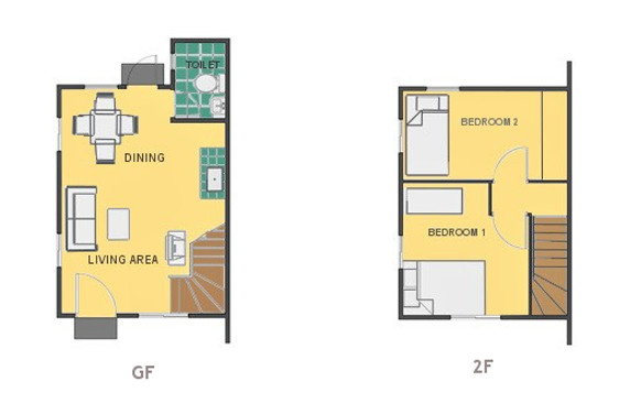 Mikaela Floor Plan House and Lot in Dasmarinas