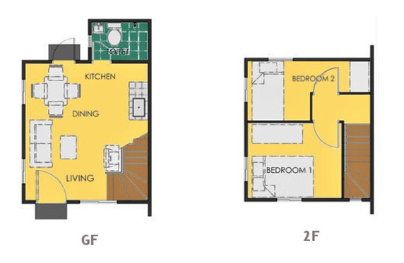 Ravena Floor Plan House and Lot in Dasmarinas