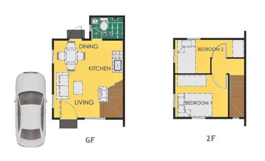 Reva Floor Plan House and Lot in Dasmarinas