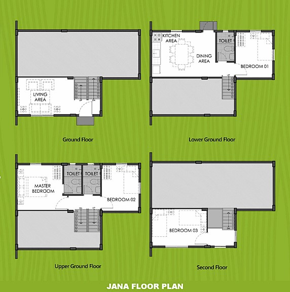Janna Floor Plan House and Lot in Dasmarinas