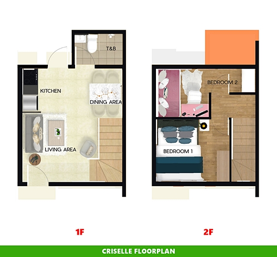 Criselle Floor Plan House and Lot in Dasmarinas