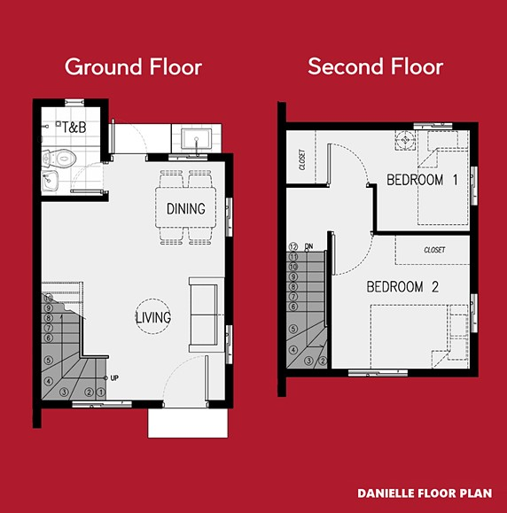 Danielle Floor Plan House and Lot in Dasmarinas