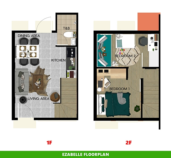 Ezabelle Floor Plan House and Lot in Dasmarinas
